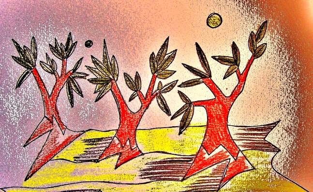 bosque olivos
