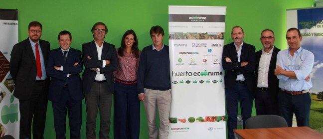 Javier del Pueyo, segundo por la izquierda, con miembros del Patronato de la Fundación Ecoánime