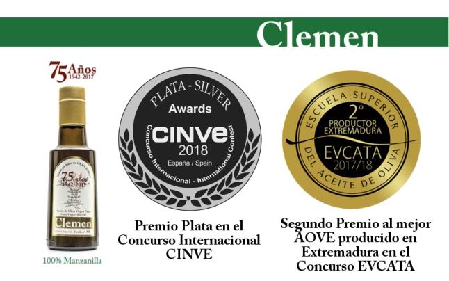 Aceites Clemen 75 años Premios